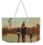 The Way From The Village. Time Of Inundation. Egypt Weekender Tote Bag