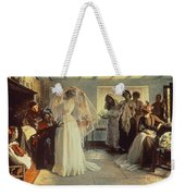 The Wedding Morning Weekender Tote Bag by John Henry Frederick Bacon