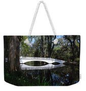 The White Bridge In Magnolia Gardens Charleston Weekender Tote Bag