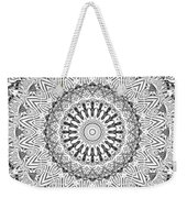 The White Mandala No. 3 Weekender Tote Bag