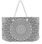 The White Mandala No. 4 Weekender Tote Bag