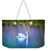 The White Swan Weekender Tote Bag by Bill Cannon