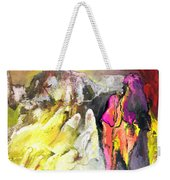 The White Wall Weekender Tote Bag