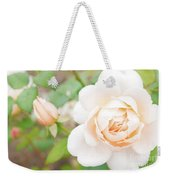 The White Washed Rose Weekender Tote Bag