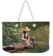 The Whittling Boy Weekender Tote Bag
