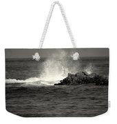 The Wild Pacific In Black And White Two Weekender Tote Bag