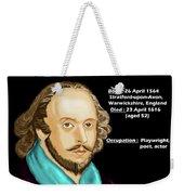 The William Shakespeare Weekender Tote Bag