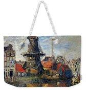 The Windmill Amsterdam Claude Monet 1874 Weekender Tote Bag
