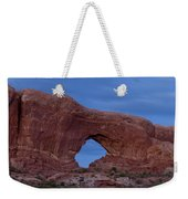 The Window At Arches N.p. After Dark Weekender Tote Bag