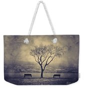 The Winter And The Benches Weekender Tote Bag