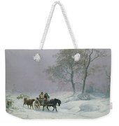 The Wintry Road To Market  Weekender Tote Bag
