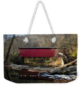 The Wissahickon Creek In Autumn - Thomas Mill Covered Bridge Weekender Tote Bag
