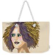 The Woman With Purple Hair Weekender Tote Bag
