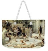 The Women Of Amphissa Weekender Tote Bag by Sir Lawrence Alma-Tadema