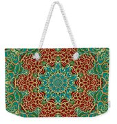 The Wooden Heart Mandala,giving Calm Weekender Tote Bag
