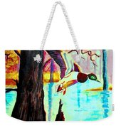 The Woodland Pond Weekender Tote Bag