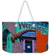 The Workshop-vertical Weekender Tote Bag