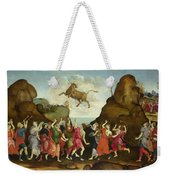 The Worship Of The Egyptian Bull God Apis Weekender Tote Bag