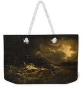 The Wreck Of The H.m.s. Deal Castle Off Puerto Rico During The Great Hurricane Of 1780 Weekender Tote Bag