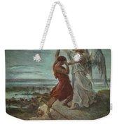 The Wrestle Of Jacob 1855 Weekender Tote Bag