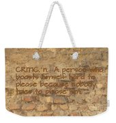 The Writing On The Wall Six Weekender Tote Bag