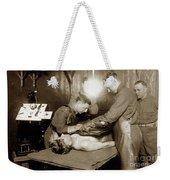 The X-ray Department Base Hospital 34, U. S. A., Nantes, France,  1918 Weekender Tote Bag