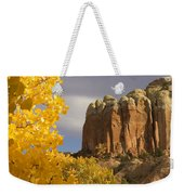 The Yellow Leaves Of Fall Frame A Rock Weekender Tote Bag