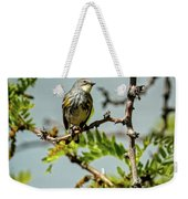The  Yellow-rumped Warbler Weekender Tote Bag