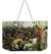 The Zaporozhye Cossacks Writing A Letter To The Turkish Sultan Weekender Tote Bag