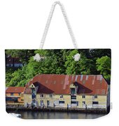 The 1905 Wooden Andreas Odfjell Warehouse On Bergen Harbor Weekender Tote Bag
