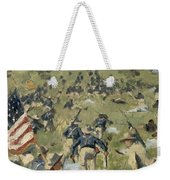 Theodore Roosevelt Taking The Saint Juan Heights Weekender Tote Bag by Vasili Vasilievich Vereshchagin