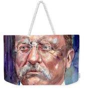 Theodore Roosevelt Watercolor Portrait Weekender Tote Bag