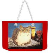 Therapy Cat Weekender Tote Bag