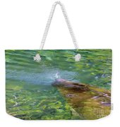 There She Blows Manatee Weekender Tote Bag