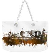 Thessaloniki Skyline City Brown Weekender Tote Bag