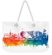 Thessaloniki Skyline City Color Weekender Tote Bag