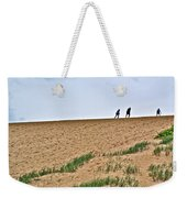 They Are Not At The Top Of This Dune Climb In Sleeping Bear Dunes National Lakeshore-michigan Weekender Tote Bag