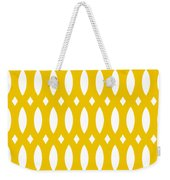 Thick Curved Trellis With Border In Mustard Weekender Tote Bag