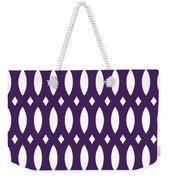 Thick Curved Trellis With Border In Purple Weekender Tote Bag