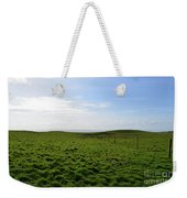 Thick Grass Field Abutting The Cliff's Of Moher In Ireland Weekender Tote Bag