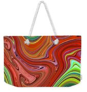 Thick Paint Orange Abstract Weekender Tote Bag