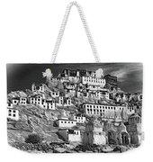 Thiksey Monastery - Paint Bw Weekender Tote Bag