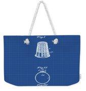 Thimble Patent 1891 In Blue Print Weekender Tote Bag