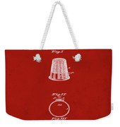 Thimble Patent 1891 In Red Weekender Tote Bag