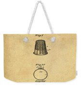 Thimble Patent 1891 In Sepia Weekender Tote Bag