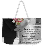 Things To Remember About Love - Black And White #3 Weekender Tote Bag