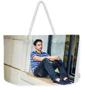 Young Boy Thinking Outside Weekender Tote Bag