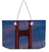 This Is A Close Up Of The Golden Gate Weekender Tote Bag