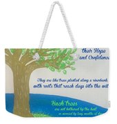 """This Is What The Lord Says: """"cursed Weekender Tote Bag"""