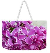 This Lilac Has Flowers With A White Edging. 4  Weekender Tote Bag